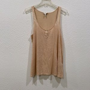 Joie Linen Shell Tank Top Small